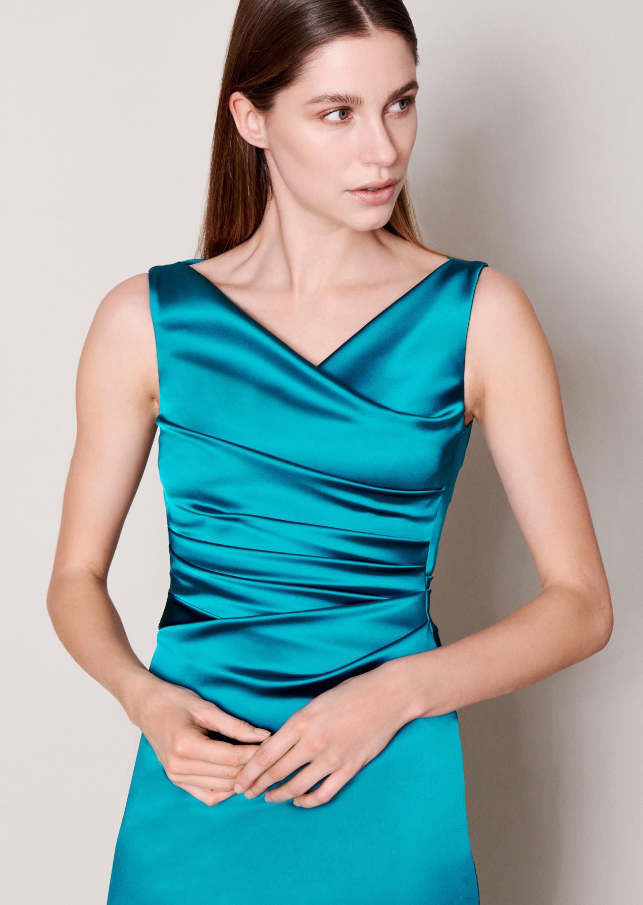 Kleid Hellblau Satin  chicago 2021